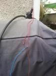 Branchements électriques de l'électrovanne au relai