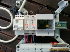 Raspberry Pi installé dans le tableu électrique