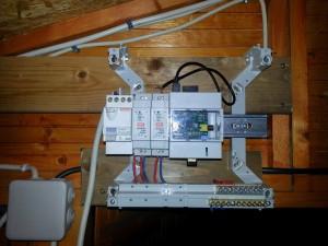Tableau électrique dans la shed
