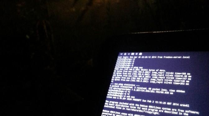 Contrôle de la lumière extérieure avec la tablette