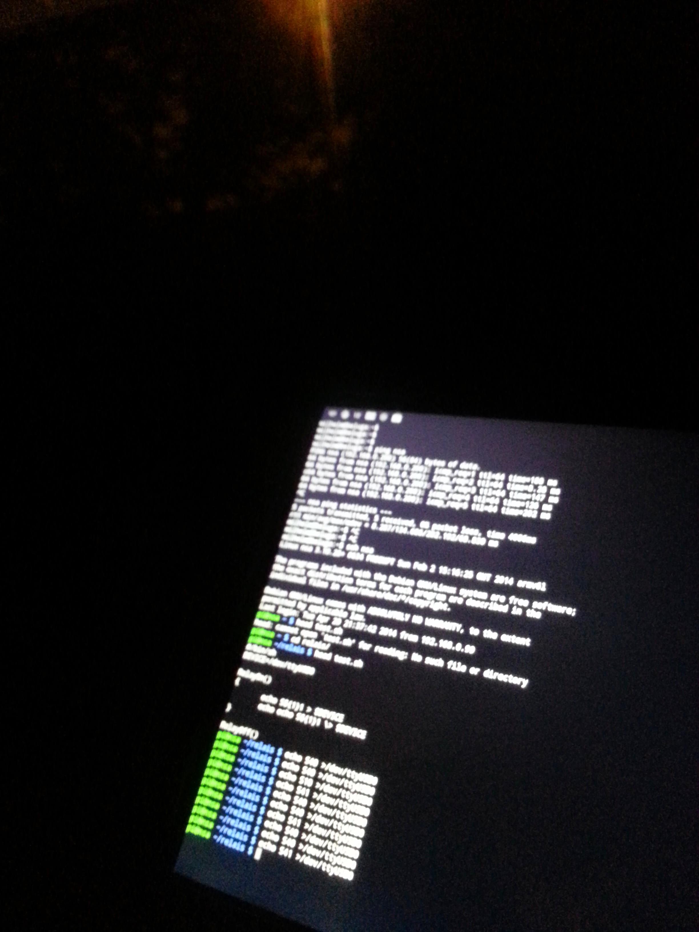 Session ssh sur le Raspberry Pi