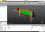 Vue 3D du dessus du plan de travail