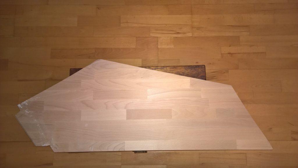 Vue de dessus du plateau une fois coupé
