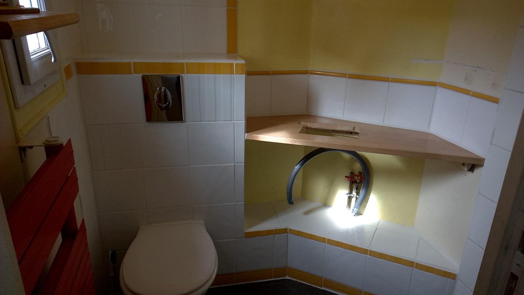 plateau perc en attente du lavabo