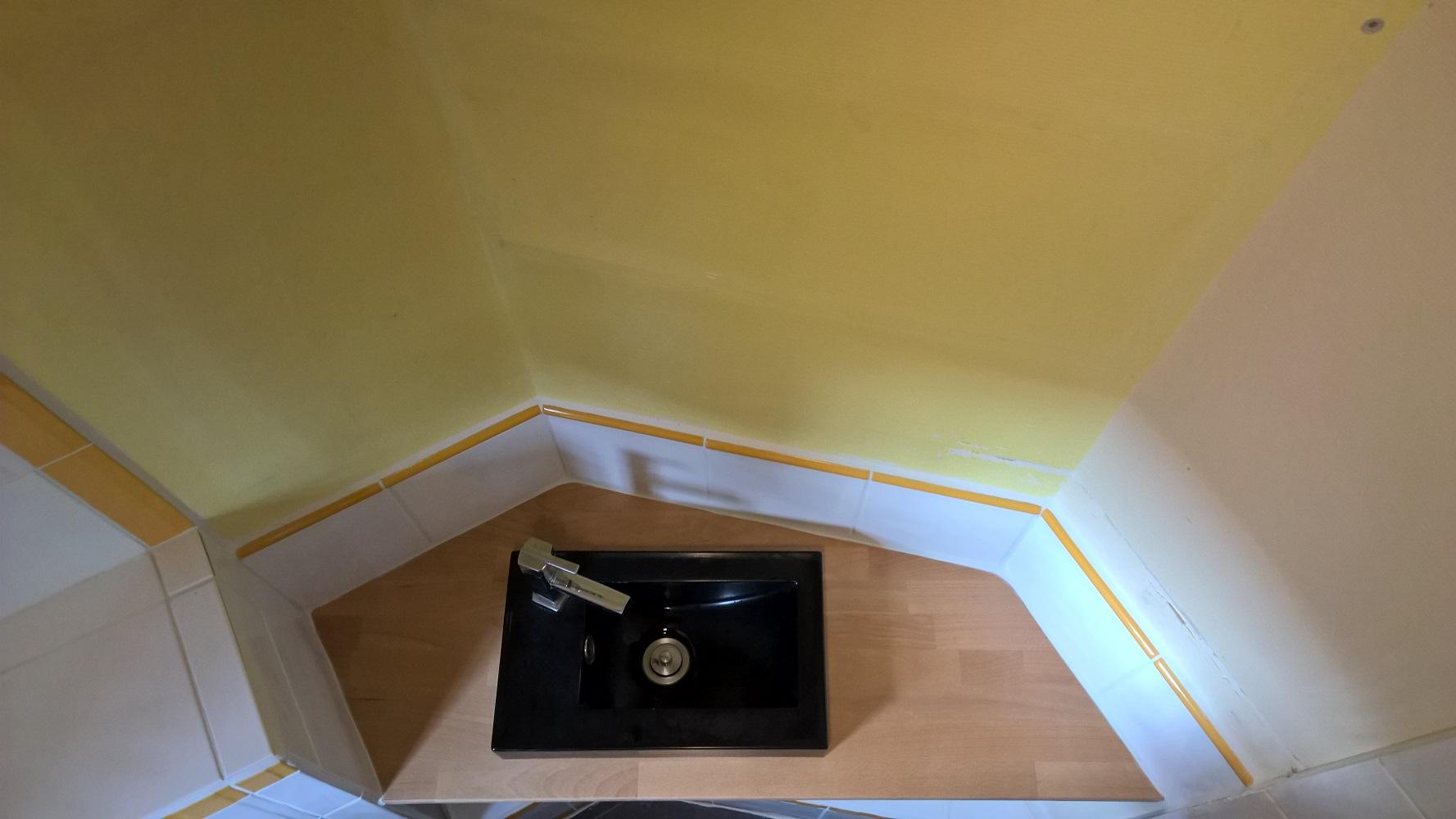 lavabo et plan de travail en vue de dessus